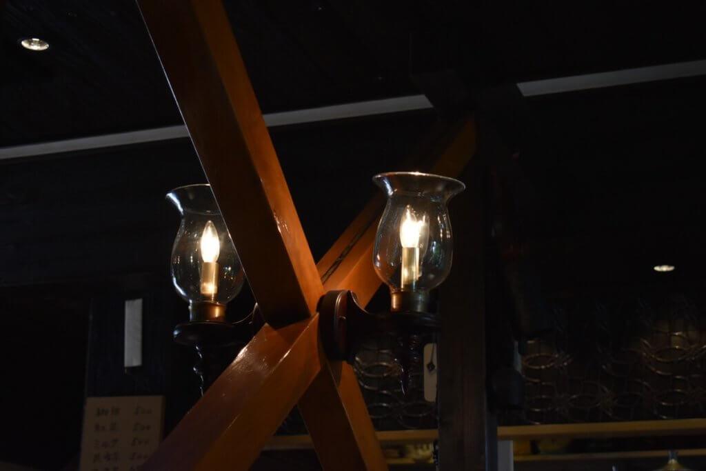 喫茶穂高 照明